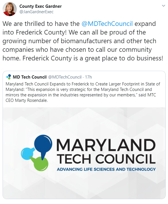 Maryland Tech Council Expands to Frederick County