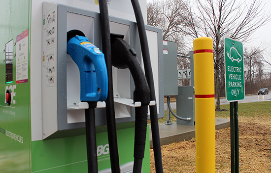 Carroll Unveils EV Charging Station at County Office Building