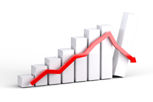 down graph