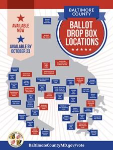 Baltimore County Adding 31 Ballot Drop Boxes to Meet High Demand
