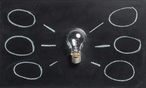 light bulb idea bubbles