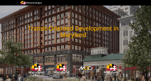 New Maryland Multi-Agency Transit-Oriented Development Web Page Unveiled