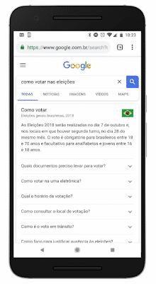 Como votar nas eleições respostas Google e TSE
