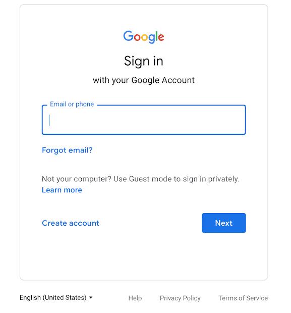 Novidades no login do Google