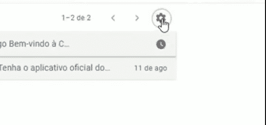 configurações painel de visualização do Gmail