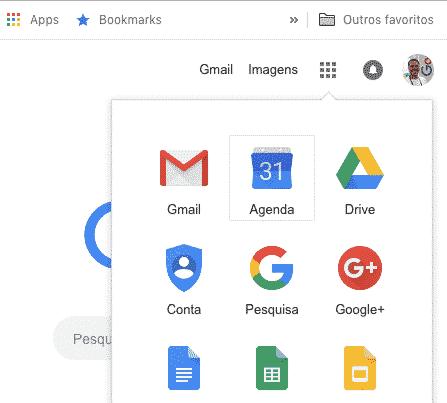Acesso Google Agenda