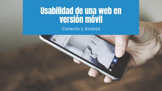 usabilidad movil - conecta y avanza