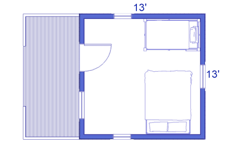 Pioneer log cabin blueprint