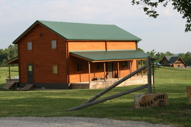 Sequoia log home exterior front
