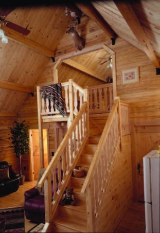 log cabin roof systems - open beam roof system in log cabin