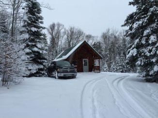 Heritage Vacation cabin in snow in MI