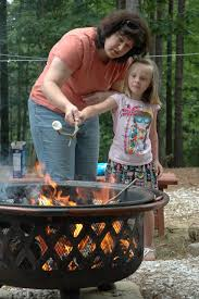 cabin fire safety - Child by Fire Pit