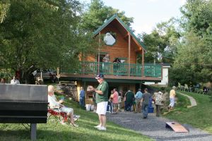 Family log cabin - gathering