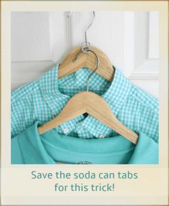 log cabin organizing - Soda Tab Hanger