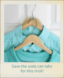log cabin organizing - Soda Tab Hanger