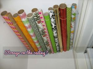 organizing log cabins  - Ceiling Storage