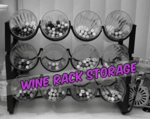organizing log cabins - Wine Rack Storage