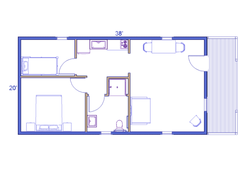 Yukon ADA log house floorplan