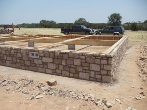 Crawl Space log cabin Foundation