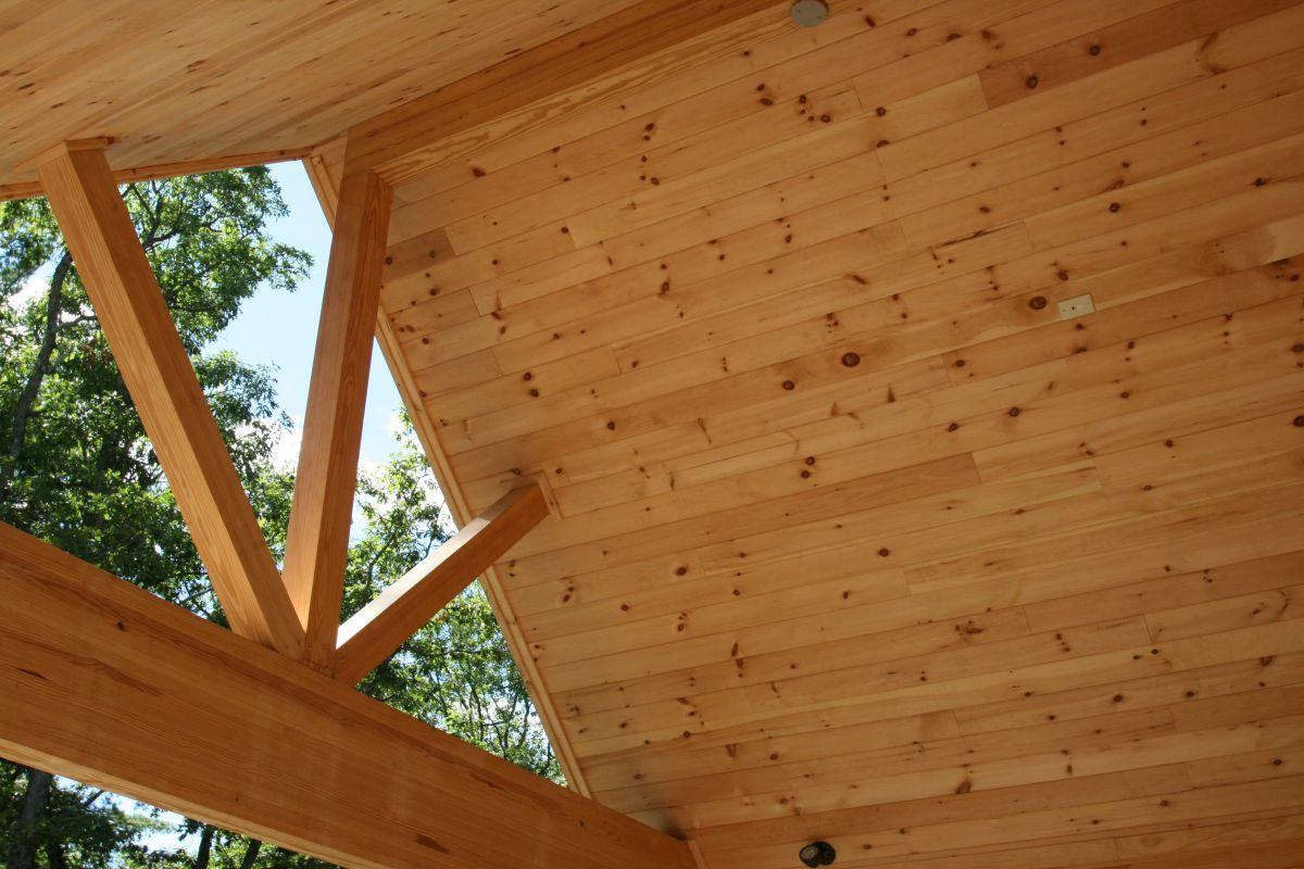 log cabin peak and roof