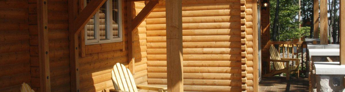 Sugarloaf log home kit deck space