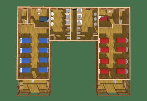 multi-purpose log building main floor