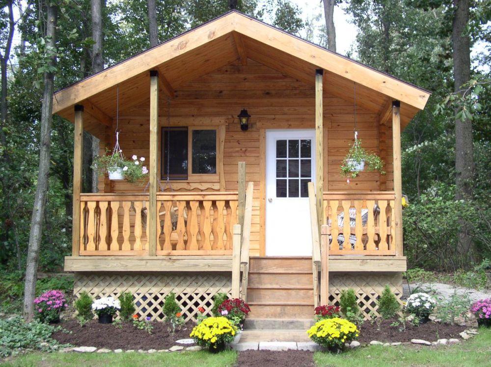 tiny house log cabin serenity