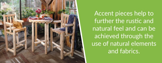 log cabin furniture accent pieces