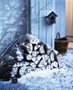 Cabin Decorations - Wood Pile