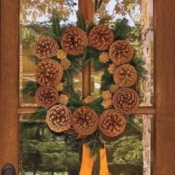 Cabin Decorations - Pine Cone Wreath