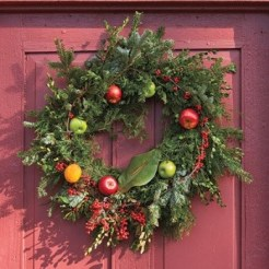 Cabin Decorations - Fruit Wreath