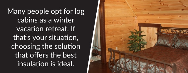 milled logs insulation interior wall