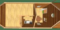 log cabin kit floor plan - heritage