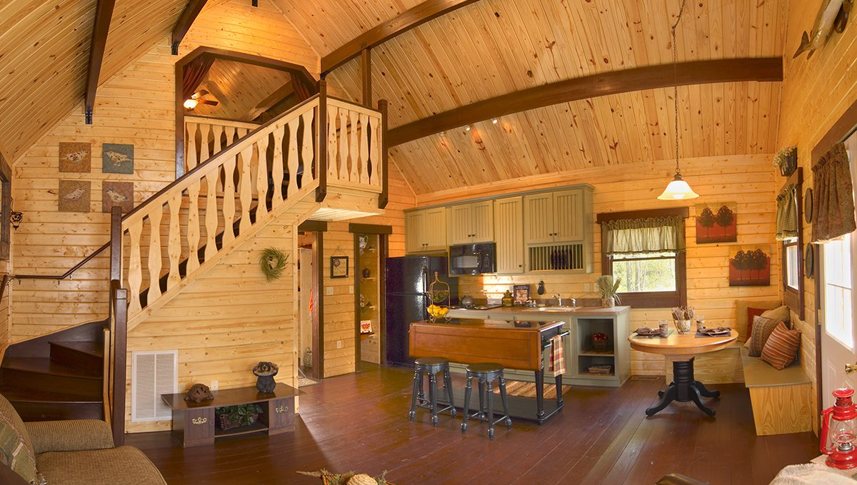 log cabin kits floor plan - mountain king