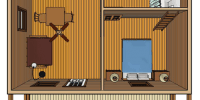 log cabin kit- bear creek