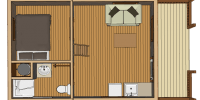 log cabin kit floor plan - outdoorsman
