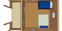 log cabin kit floorplan - pioneer