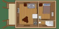 log cabin kit floor plan - serenity