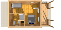 log cabin kits floor plan - durango