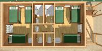 bunkhouse log cabin kits - elk lodge
