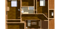 log home kits floor plan-hampton