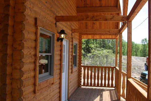 camping cabin porch
