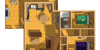log home kits floor plan - rainier