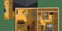 log home kit floor plan - rainier