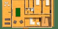 log home kits floor plan- timber ridge