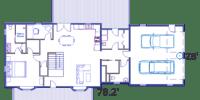 log home kits floor plan - windsor
