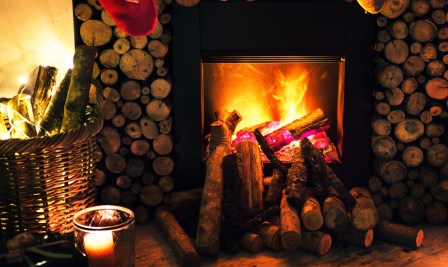 log cabin fireplace 2