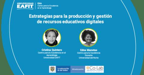 Encuentro en línea: Estrategias para fortalecer la producción y gestión de recursos educativos digitales