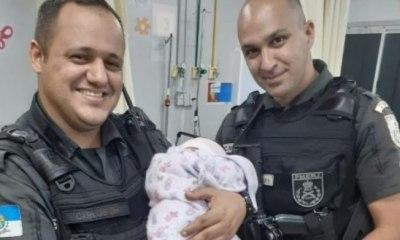 Bebê de apenas sete dias é encontrado na rua por policiais 113