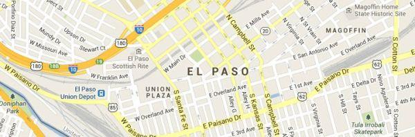 Map of El-Paso-Texas service area